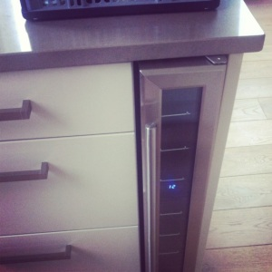 The wine fridge! Best invention I've seen in a while!