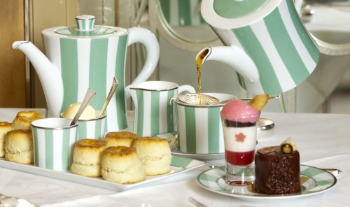 LONDON, ENGLAND- APRIL 04- Claridge's named as London's Top Afternoon Tea Place for 2011.